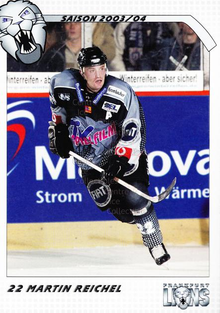 2003-04 German Frankfurt Lions Postcards #18 Martin Reichel<br/>1 In Stock - $3.00 each - <a href=https://centericecollectibles.foxycart.com/cart?name=2003-04%20German%20Frankfurt%20Lions%20Postcards%20%2318%20Martin%20Reichel...&quantity_max=1&price=$3.00&code=601311 class=foxycart> Buy it now! </a>