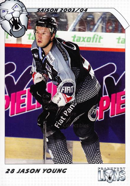 2003-04 German Frankfurt Lions Postcards #23 Jason Young<br/>1 In Stock - $3.00 each - <a href=https://centericecollectibles.foxycart.com/cart?name=2003-04%20German%20Frankfurt%20Lions%20Postcards%20%2323%20Jason%20Young...&quantity_max=1&price=$3.00&code=601316 class=foxycart> Buy it now! </a>