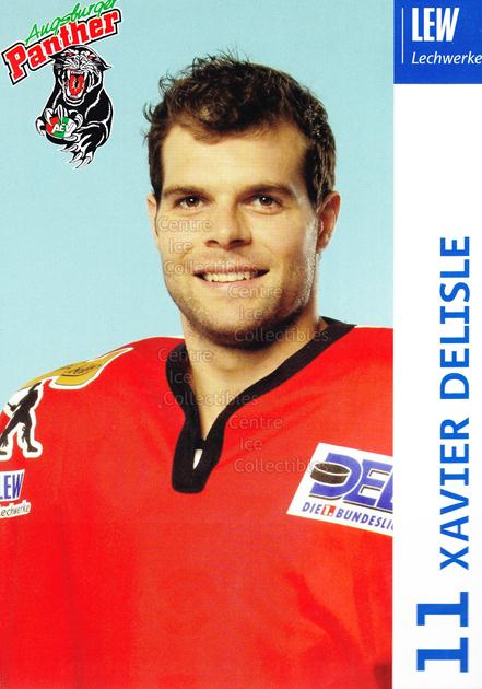 2003-04 German Augsburg Panthers Postcards #7 Xavier Delisle<br/>1 In Stock - $3.00 each - <a href=https://centericecollectibles.foxycart.com/cart?name=2003-04%20German%20Augsburg%20Panthers%20Postcards%20%237%20Xavier%20Delisle...&quantity_max=1&price=$3.00&code=601323 class=foxycart> Buy it now! </a>