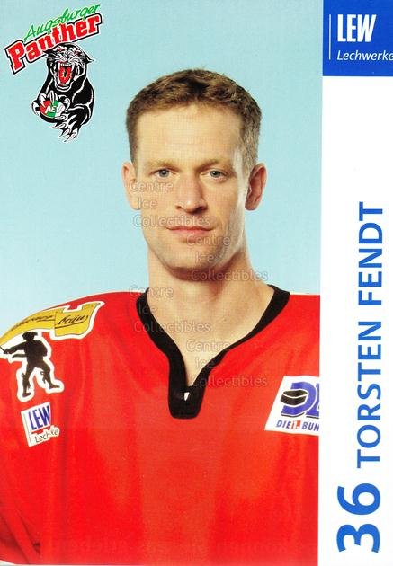 2003-04 German Augsburg Panthers Postcards #9 Torsten Fendt<br/>1 In Stock - $3.00 each - <a href=https://centericecollectibles.foxycart.com/cart?name=2003-04%20German%20Augsburg%20Panthers%20Postcards%20%239%20Torsten%20Fendt...&quantity_max=1&price=$3.00&code=601325 class=foxycart> Buy it now! </a>