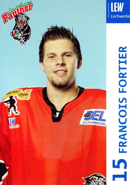 2003-04 German Augsburg Panthers Postcards #10 Francois Fortier<br/>1 In Stock - $3.00 each - <a href=https://centericecollectibles.foxycart.com/cart?name=2003-04%20German%20Augsburg%20Panthers%20Postcards%20%2310%20Francois%20Fortie...&quantity_max=1&price=$3.00&code=601326 class=foxycart> Buy it now! </a>