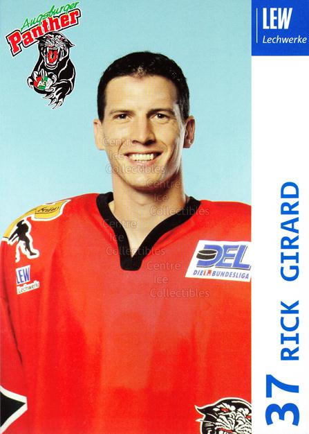 2003-04 German Augsburg Panthers Postcards #11 Rich Girard<br/>1 In Stock - $3.00 each - <a href=https://centericecollectibles.foxycart.com/cart?name=2003-04%20German%20Augsburg%20Panthers%20Postcards%20%2311%20Rich%20Girard...&quantity_max=1&price=$3.00&code=601327 class=foxycart> Buy it now! </a>