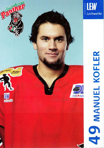 2003-04 German Augsburg Panthers Postcards #13 Manuel Kofler<br/>1 In Stock - $3.00 each - <a href=https://centericecollectibles.foxycart.com/cart?name=2003-04%20German%20Augsburg%20Panthers%20Postcards%20%2313%20Manuel%20Kofler...&quantity_max=1&price=$3.00&code=601329 class=foxycart> Buy it now! </a>