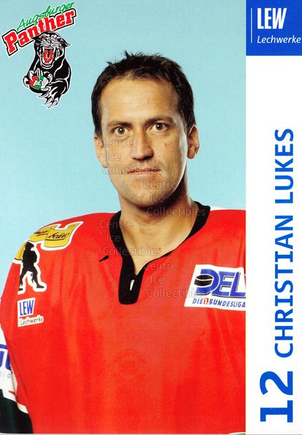2003-04 German Augsburg Panthers Postcards #15 Christian Lukes<br/>1 In Stock - $3.00 each - <a href=https://centericecollectibles.foxycart.com/cart?name=2003-04%20German%20Augsburg%20Panthers%20Postcards%20%2315%20Christian%20Lukes...&quantity_max=1&price=$3.00&code=601331 class=foxycart> Buy it now! </a>