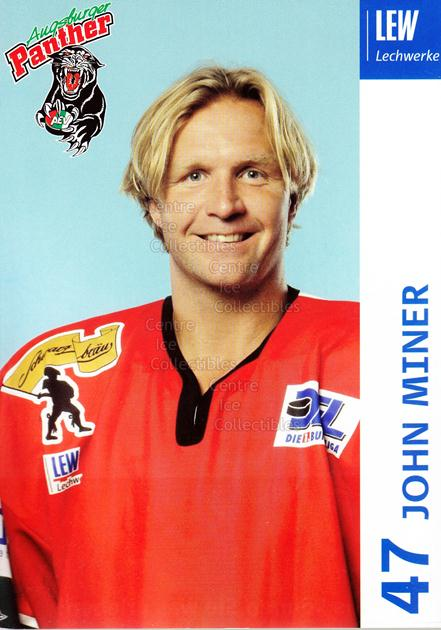 2003-04 German Augsburg Panthers Postcards #16 John Miner<br/>1 In Stock - $3.00 each - <a href=https://centericecollectibles.foxycart.com/cart?name=2003-04%20German%20Augsburg%20Panthers%20Postcards%20%2316%20John%20Miner...&quantity_max=1&price=$3.00&code=601332 class=foxycart> Buy it now! </a>
