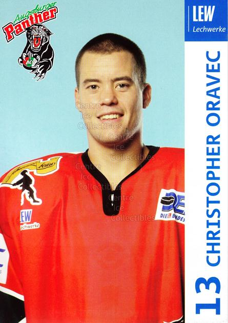 2003-04 German Augsburg Panthers Postcards #18 Christopher Oravec<br/>1 In Stock - $3.00 each - <a href=https://centericecollectibles.foxycart.com/cart?name=2003-04%20German%20Augsburg%20Panthers%20Postcards%20%2318%20Christopher%20Ora...&quantity_max=1&price=$3.00&code=601334 class=foxycart> Buy it now! </a>