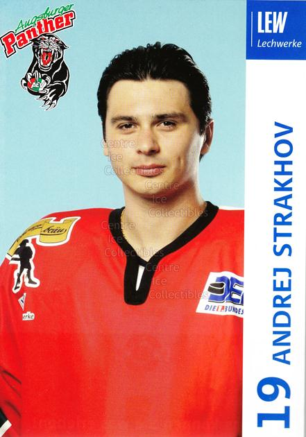 2003-04 German Augsburg Panthers Postcards #21 Andrej Strakhov<br/>1 In Stock - $3.00 each - <a href=https://centericecollectibles.foxycart.com/cart?name=2003-04%20German%20Augsburg%20Panthers%20Postcards%20%2321%20Andrej%20Strakhov...&quantity_max=1&price=$3.00&code=601337 class=foxycart> Buy it now! </a>