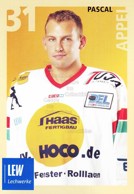 2004-05 German Augsburg Panthers Postcards #1 Pascal Appel<br/>1 In Stock - $3.00 each - <a href=https://centericecollectibles.foxycart.com/cart?name=2004-05%20German%20Augsburg%20Panthers%20Postcards%20%231%20Pascal%20Appel...&quantity_max=1&price=$3.00&code=601339 class=foxycart> Buy it now! </a>