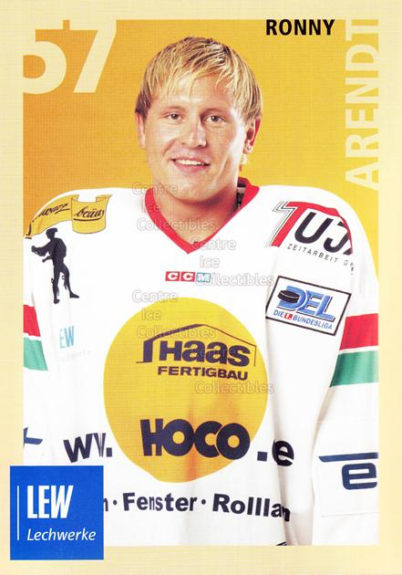 2004-05 German Augsburg Panthers Postcards #2 Ronny Arendt<br/>1 In Stock - $3.00 each - <a href=https://centericecollectibles.foxycart.com/cart?name=2004-05%20German%20Augsburg%20Panthers%20Postcards%20%232%20Ronny%20Arendt...&quantity_max=1&price=$3.00&code=601340 class=foxycart> Buy it now! </a>