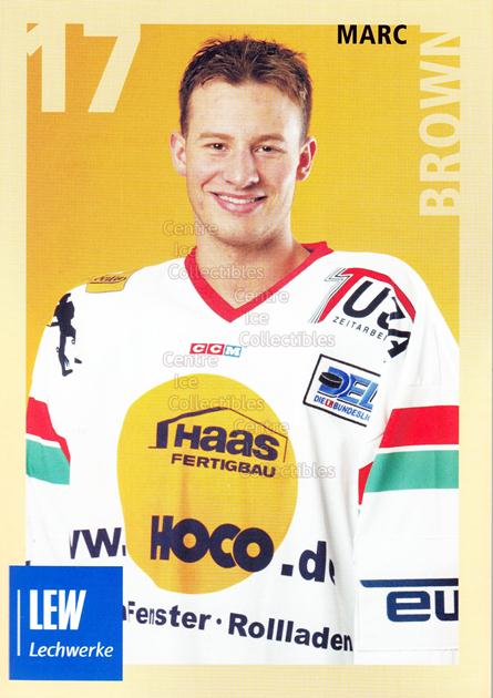2004-05 German Augsburg Panthers Postcards #7 Marc Brown<br/>1 In Stock - $3.00 each - <a href=https://centericecollectibles.foxycart.com/cart?name=2004-05%20German%20Augsburg%20Panthers%20Postcards%20%237%20Marc%20Brown...&quantity_max=1&price=$3.00&code=601345 class=foxycart> Buy it now! </a>