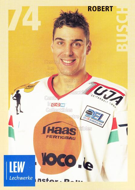 2004-05 German Augsburg Panthers Postcards #8 Robert Busch<br/>1 In Stock - $3.00 each - <a href=https://centericecollectibles.foxycart.com/cart?name=2004-05%20German%20Augsburg%20Panthers%20Postcards%20%238%20Robert%20Busch...&quantity_max=1&price=$3.00&code=601346 class=foxycart> Buy it now! </a>