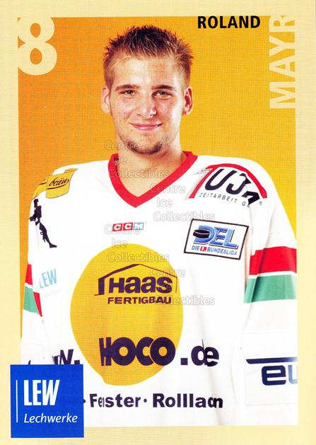 2004-05 German Augsburg Panthers Postcards #19 Roland Mayr<br/>1 In Stock - $3.00 each - <a href=https://centericecollectibles.foxycart.com/cart?name=2004-05%20German%20Augsburg%20Panthers%20Postcards%20%2319%20Roland%20Mayr...&quantity_max=1&price=$3.00&code=601357 class=foxycart> Buy it now! </a>