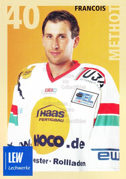 2004-05 German Augsburg Panthers Postcards #20 Francois Methot<br/>1 In Stock - $3.00 each - <a href=https://centericecollectibles.foxycart.com/cart?name=2004-05%20German%20Augsburg%20Panthers%20Postcards%20%2320%20Francois%20Methot...&quantity_max=1&price=$3.00&code=601358 class=foxycart> Buy it now! </a>