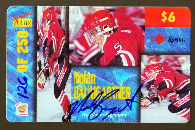 1995 Signature Rookies Auto-Phonex Phone Cards Six #PC3 Nolan Baumgartner<br/>1 In Stock - $5.00 each - <a href=https://centericecollectibles.foxycart.com/cart?name=1995%20Signature%20Rookies%20Auto-Phonex%20Phone%20Cards%20Six%20%23PC3%20Nolan%20Baumgartn...&quantity_max=1&price=$5.00&code=601469 class=foxycart> Buy it now! </a>
