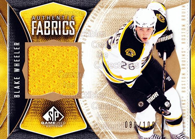 2009-10 Sp Game Used Authentic Fabrics Gold #AFBW Blake Wheeler<br/>1 In Stock - $5.00 each - <a href=https://centericecollectibles.foxycart.com/cart?name=2009-10%20Sp%20Game%20Used%20Authentic%20Fabrics%20Gold%20%23AFBW%20Blake%20Wheeler...&price=$5.00&code=601494 class=foxycart> Buy it now! </a>