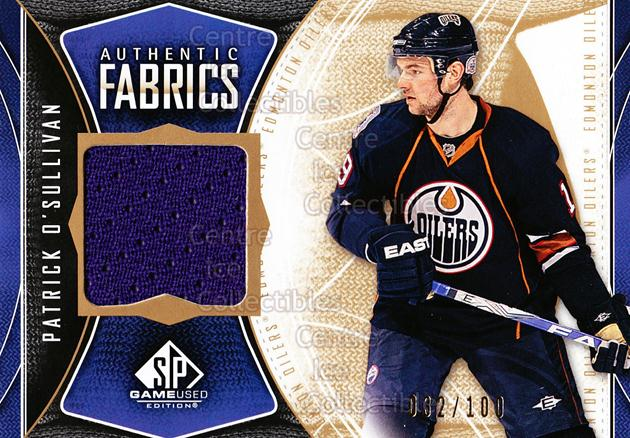 2009-10 Sp Game Used Authentic Fabrics Gold #AFPO Patrick O'Sullivan<br/>1 In Stock - $5.00 each - <a href=https://centericecollectibles.foxycart.com/cart?name=2009-10%20Sp%20Game%20Used%20Authentic%20Fabrics%20Gold%20%23AFPO%20Patrick%20O'Sulli...&price=$5.00&code=601546 class=foxycart> Buy it now! </a>