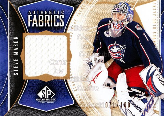 2009-10 Sp Game Used Authentic Fabrics Gold #AFSM Steve Mason<br/>2 In Stock - $5.00 each - <a href=https://centericecollectibles.foxycart.com/cart?name=2009-10%20Sp%20Game%20Used%20Authentic%20Fabrics%20Gold%20%23AFSM%20Steve%20Mason...&quantity_max=2&price=$5.00&code=601557 class=foxycart> Buy it now! </a>