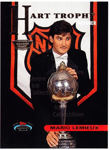 1993-94 Stadium Club Members Only Proof #143 Mario Lemieux<br/>1 In Stock - $20.00 each - <a href=https://centericecollectibles.foxycart.com/cart?name=1993-94%20Stadium%20Club%20Members%20Only%20Proof%20%23143%20Mario%20Lemieux...&quantity_max=1&price=$20.00&code=601600 class=foxycart> Buy it now! </a>