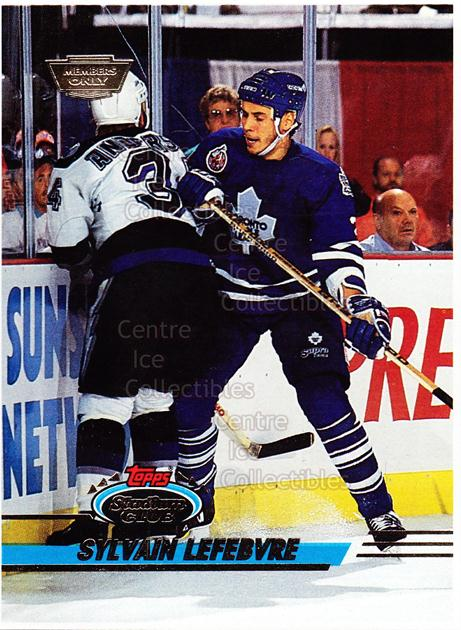 1993-94 Stadium Club Members Only Proof #48 Sylvain Lefebvre<br/>1 In Stock - $10.00 each - <a href=https://centericecollectibles.foxycart.com/cart?name=1993-94%20Stadium%20Club%20Members%20Only%20Proof%20%2348%20Sylvain%20Lefebvr...&quantity_max=1&price=$10.00&code=601707 class=foxycart> Buy it now! </a>