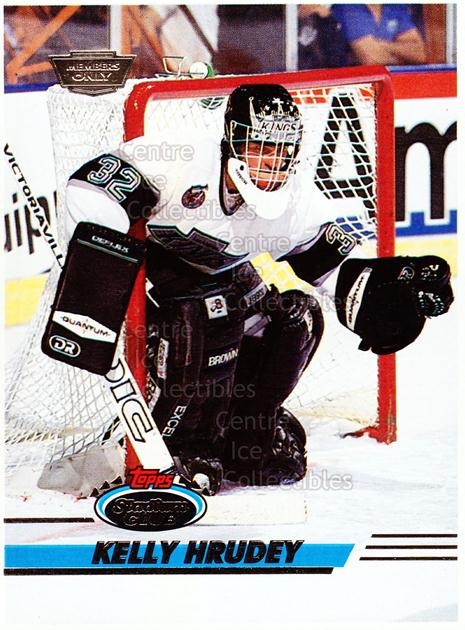 1993-94 Stadium Club Members Only Proof #54 Kelly Hrudey<br/>1 In Stock - $10.00 each - <a href=https://centericecollectibles.foxycart.com/cart?name=1993-94%20Stadium%20Club%20Members%20Only%20Proof%20%2354%20Kelly%20Hrudey...&quantity_max=1&price=$10.00&code=601734 class=foxycart> Buy it now! </a>