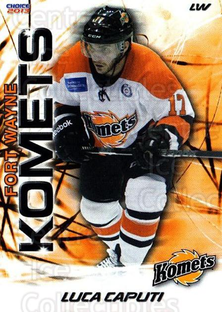 2012-13 Fort Wayne Komets Choice #17 Luca Caputi<br/>3 In Stock - $3.00 each - <a href=https://centericecollectibles.foxycart.com/cart?name=2012-13%20Fort%20Wayne%20Komets%20Choice%20%2317%20Luca%20Caputi...&quantity_max=3&price=$3.00&code=602161 class=foxycart> Buy it now! </a>