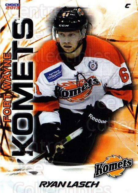 2012-13 Fort Wayne Komets Choice #22 Ryan Lasch<br/>1 In Stock - $3.00 each - <a href=https://centericecollectibles.foxycart.com/cart?name=2012-13%20Fort%20Wayne%20Komets%20Choice%20%2322%20Ryan%20Lasch...&quantity_max=1&price=$3.00&code=602166 class=foxycart> Buy it now! </a>