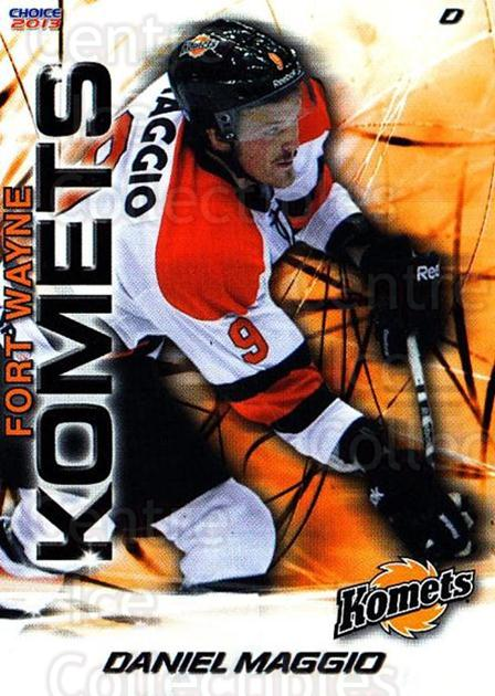 2012-13 Fort Wayne Komets Choice #23 Daniel Maggio<br/>3 In Stock - $3.00 each - <a href=https://centericecollectibles.foxycart.com/cart?name=2012-13%20Fort%20Wayne%20Komets%20Choice%20%2323%20Daniel%20Maggio...&quantity_max=3&price=$3.00&code=602167 class=foxycart> Buy it now! </a>