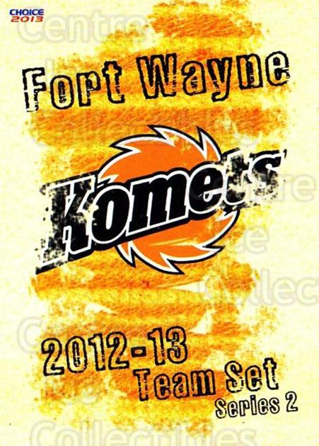 2012-13 Fort Wayne Komets Choice #30 Checklist<br/>3 In Stock - $3.00 each - <a href=https://centericecollectibles.foxycart.com/cart?name=2012-13%20Fort%20Wayne%20Komets%20Choice%20%2330%20Checklist...&quantity_max=3&price=$3.00&code=602174 class=foxycart> Buy it now! </a>