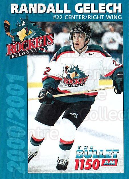 2000-01 Kelowna Rockets #5 Randall Gelech<br/>1 In Stock - $3.00 each - <a href=https://centericecollectibles.foxycart.com/cart?name=2000-01%20Kelowna%20Rockets%20%235%20Randall%20Gelech...&quantity_max=1&price=$3.00&code=602182 class=foxycart> Buy it now! </a>