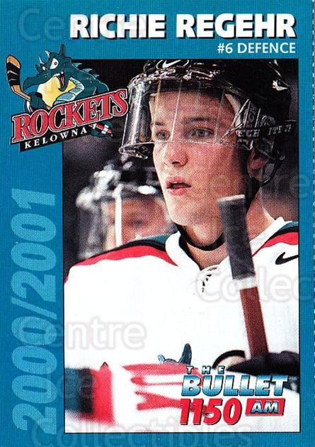 2000-01 Kelowna Rockets #20 Richie Regehr<br/>2 In Stock - $3.00 each - <a href=https://centericecollectibles.foxycart.com/cart?name=2000-01%20Kelowna%20Rockets%20%2320%20Richie%20Regehr...&quantity_max=2&price=$3.00&code=602184 class=foxycart> Buy it now! </a>