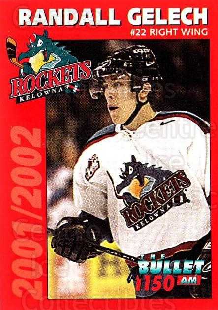 2001-02 Kelowna Rockets #6 Randall Gelech<br/>1 In Stock - $3.00 each - <a href=https://centericecollectibles.foxycart.com/cart?name=2001-02%20Kelowna%20Rockets%20%236%20Randall%20Gelech...&quantity_max=1&price=$3.00&code=602186 class=foxycart> Buy it now! </a>