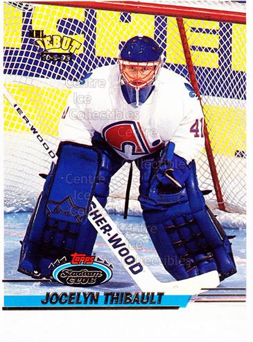 1993-94 Stadium Club Proof #479 Jocelyn Thibault<br/>1 In Stock - $10.00 each - <a href=https://centericecollectibles.foxycart.com/cart?name=1993-94%20Stadium%20Club%20Proof%20%23479%20Jocelyn%20Thibaul...&quantity_max=1&price=$10.00&code=602665 class=foxycart> Buy it now! </a>