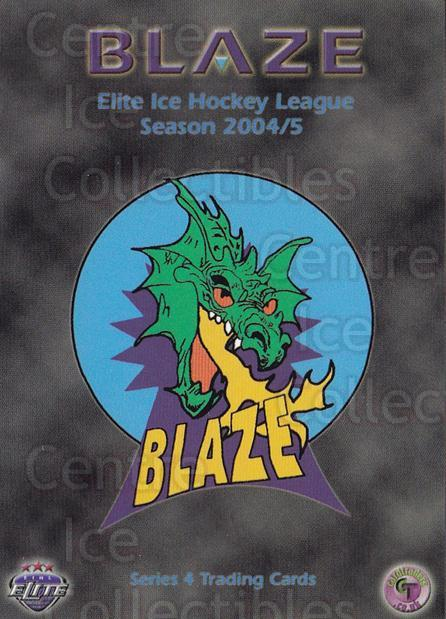 2004-05 UK British Elite Coventry Blaze #1 Checklist<br/>1 In Stock - $2.00 each - <a href=https://centericecollectibles.foxycart.com/cart?name=2004-05%20UK%20British%20Elite%20Coventry%20Blaze%20%231%20Checklist...&price=$2.00&code=602983 class=foxycart> Buy it now! </a>