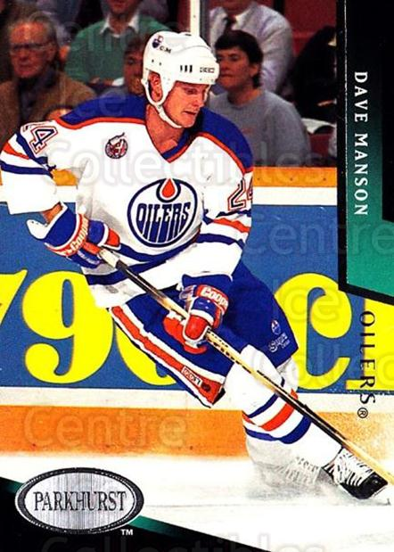 1993-94 Parkhurst #335 Dave Manson<br/>6 In Stock - $1.00 each - <a href=https://centericecollectibles.foxycart.com/cart?name=1993-94%20Parkhurst%20%23335%20Dave%20Manson...&quantity_max=6&price=$1.00&code=6030 class=foxycart> Buy it now! </a>