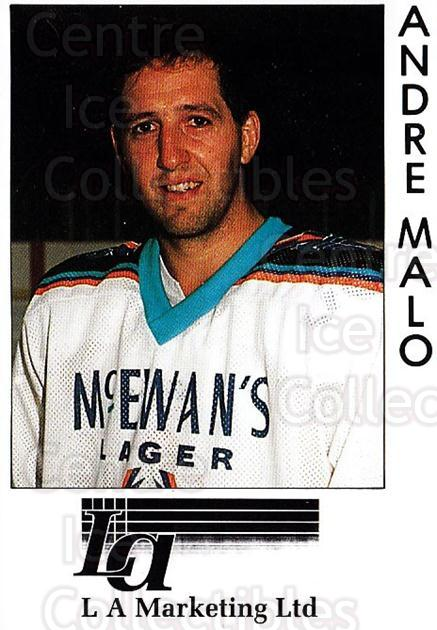 1995-96 UK British Elite Sheffield Steelers #22 Andre Malo<br/>2 In Stock - $3.00 each - <a href=https://centericecollectibles.foxycart.com/cart?name=1995-96%20UK%20British%20Elite%20Sheffield%20Steelers%20%2322%20Andre%20Malo...&quantity_max=2&price=$3.00&code=603121 class=foxycart> Buy it now! </a>