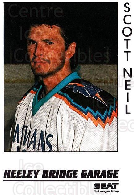 1995-96 UK British Elite Sheffield Steelers #10 Scott Neil<br/>2 In Stock - $3.00 each - <a href=https://centericecollectibles.foxycart.com/cart?name=1995-96%20UK%20British%20Elite%20Sheffield%20Steelers%20%2310%20Scott%20Neil...&quantity_max=2&price=$3.00&code=603128 class=foxycart> Buy it now! </a>