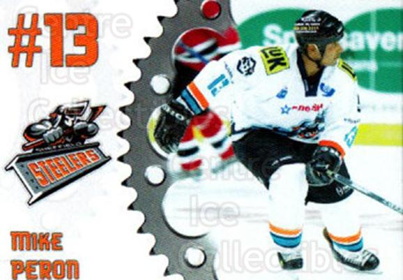2005-06 UK British Elite Sheffield Steelers #2 Mike Peron<br/>2 In Stock - $2.00 each - <a href=https://centericecollectibles.foxycart.com/cart?name=2005-06%20UK%20British%20Elite%20Sheffield%20Steelers%20%232%20Mike%20Peron...&quantity_max=2&price=$2.00&code=603136 class=foxycart> Buy it now! </a>