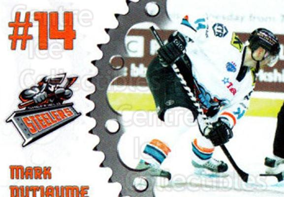 2005-06 UK British Elite Sheffield Steelers #5 Mark Dutiaume<br/>2 In Stock - $2.00 each - <a href=https://centericecollectibles.foxycart.com/cart?name=2005-06%20UK%20British%20Elite%20Sheffield%20Steelers%20%235%20Mark%20Dutiaume...&quantity_max=2&price=$2.00&code=603139 class=foxycart> Buy it now! </a>