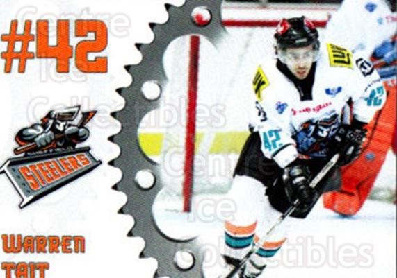 2005-06 UK British Elite Sheffield Steelers #9 Warren Tait<br/>1 In Stock - $2.00 each - <a href=https://centericecollectibles.foxycart.com/cart?name=2005-06%20UK%20British%20Elite%20Sheffield%20Steelers%20%239%20Warren%20Tait...&quantity_max=1&price=$2.00&code=603143 class=foxycart> Buy it now! </a>