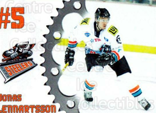 2005-06 UK British Elite Sheffield Steelers #15 Jonas Lennartsson<br/>1 In Stock - $2.00 each - <a href=https://centericecollectibles.foxycart.com/cart?name=2005-06%20UK%20British%20Elite%20Sheffield%20Steelers%20%2315%20Jonas%20Lennartss...&quantity_max=1&price=$2.00&code=603149 class=foxycart> Buy it now! </a>