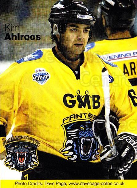 2003-04 UK British Elite Nottingham Panthers #2 Kim Ahlroos<br/>1 In Stock - $2.00 each - <a href=https://centericecollectibles.foxycart.com/cart?name=2003-04%20UK%20British%20Elite%20Nottingham%20Panthers%20%232%20Kim%20Ahlroos...&price=$2.00&code=603229 class=foxycart> Buy it now! </a>