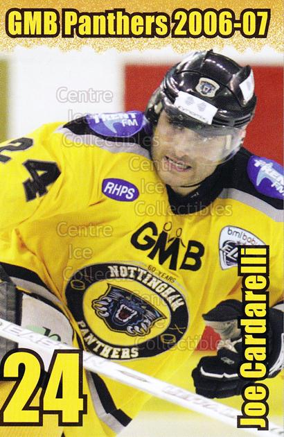2006-07 UK British Elite Nottingham Panthers #1 Joe Cardarelli<br/>1 In Stock - $2.00 each - <a href=https://centericecollectibles.foxycart.com/cart?name=2006-07%20UK%20British%20Elite%20Nottingham%20Panthers%20%231%20Joe%20Cardarelli...&price=$2.00&code=603265 class=foxycart> Buy it now! </a>