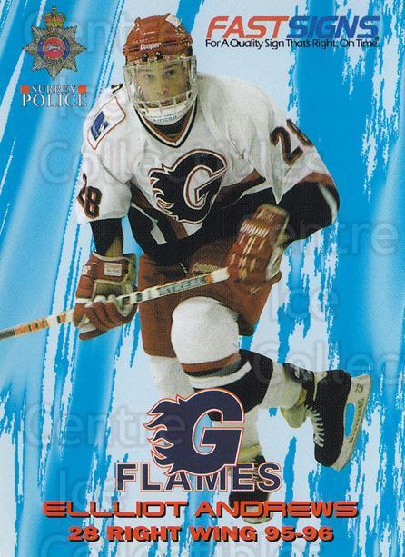 1995-96 UK British Elite Guildford Flames #14 Elliott Andrews<br/>1 In Stock - $3.00 each - <a href=https://centericecollectibles.foxycart.com/cart?name=1995-96%20UK%20British%20Elite%20Guildford%20Flames%20%2314%20Elliott%20Andrews...&quantity_max=1&price=$3.00&code=603298 class=foxycart> Buy it now! </a>