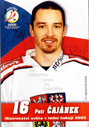 2005-06 Czech World Championship Portraits Postcards #1 Petr Cajanek<br/>1 In Stock - $3.00 each - <a href=https://centericecollectibles.foxycart.com/cart?name=2005-06%20Czech%20World%20Championship%20Portraits%20Postcards%20%231%20Petr%20Cajanek...&quantity_max=1&price=$3.00&code=603749 class=foxycart> Buy it now! </a>