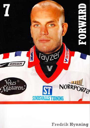 2008-09 Swedish Timra IK Red Eagles Postcards #9 Fredrik Hynning<br/>1 In Stock - $3.00 each - <a href=https://centericecollectibles.foxycart.com/cart?name=2008-09%20Swedish%20Timra%20IK%20Red%20Eagles%20Postcards%20%239%20Fredrik%20Hynning...&quantity_max=1&price=$3.00&code=603810 class=foxycart> Buy it now! </a>
