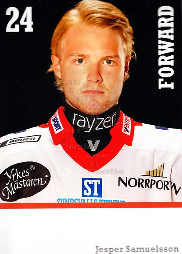 2008-09 Swedish Timra IK Red Eagles Postcards #19 Jesper Samuelsson<br/>1 In Stock - $3.00 each - <a href=https://centericecollectibles.foxycart.com/cart?name=2008-09%20Swedish%20Timra%20IK%20Red%20Eagles%20Postcards%20%2319%20Jesper%20Samuelss...&quantity_max=1&price=$3.00&code=603819 class=foxycart> Buy it now! </a>