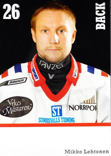 2008-09 Swedish Timra IK Red Eagles Postcards #12 Mikko Lehtonen<br/>1 In Stock - $3.00 each - <a href=https://centericecollectibles.foxycart.com/cart?name=2008-09%20Swedish%20Timra%20IK%20Red%20Eagles%20Postcards%20%2312%20Mikko%20Lehtonen...&quantity_max=1&price=$3.00&code=603820 class=foxycart> Buy it now! </a>
