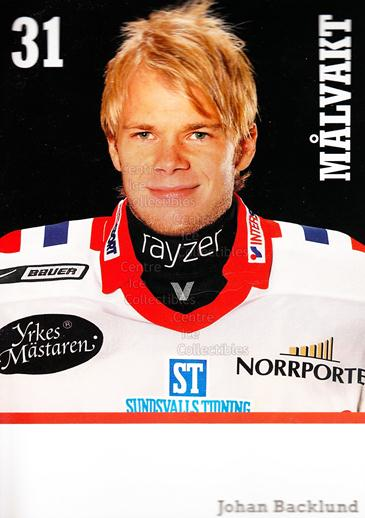 2008-09 Swedish Timra IK Red Eagles Postcards #5 Johan Backlund<br/>1 In Stock - $3.00 each - <a href=https://centericecollectibles.foxycart.com/cart?name=2008-09%20Swedish%20Timra%20IK%20Red%20Eagles%20Postcards%20%235%20Johan%20Backlund...&quantity_max=1&price=$3.00&code=603823 class=foxycart> Buy it now! </a>