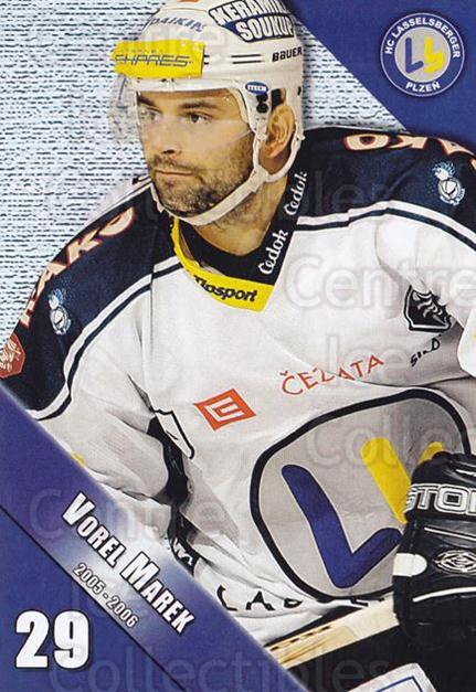2005-06 Czech HC Plzen Postcards #16 Marek Vorel<br/>1 In Stock - $3.00 each - <a href=https://centericecollectibles.foxycart.com/cart?name=2005-06%20Czech%20HC%20Plzen%20Postcards%20%2316%20Marek%20Vorel...&quantity_max=1&price=$3.00&code=603849 class=foxycart> Buy it now! </a>