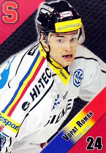 2005-06 Czech HC Sparta Praha Postcards #15 Roman Vopat<br/>1 In Stock - $3.00 each - <a href=https://centericecollectibles.foxycart.com/cart?name=2005-06%20Czech%20HC%20Sparta%20Praha%20Postcards%20%2315%20Roman%20Vopat...&quantity_max=1&price=$3.00&code=603854 class=foxycart> Buy it now! </a>